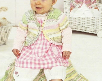 Beautiful Baby Boleros and Blanket Knitting Pattern.