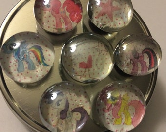 My Little Pony glass magnets