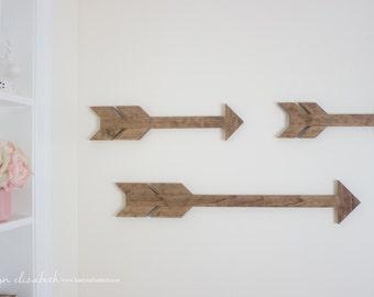 LARGE Individual Wooden Arrow   Boho Arrow