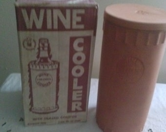 """Vintage Italian Made 14"""" Tall CLAY* Wine Vino Fresco Cooler & Cover*"""