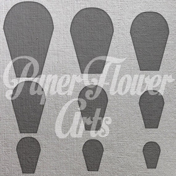 Paper Flower Wall Template: Paper Flower Template Paper Flower Wall DIY By PaperFlowerArts