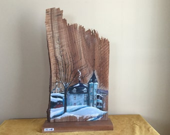 Paint on raw wood cutting