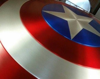 Captain America Shield  Aluminum Metal Classic Painted