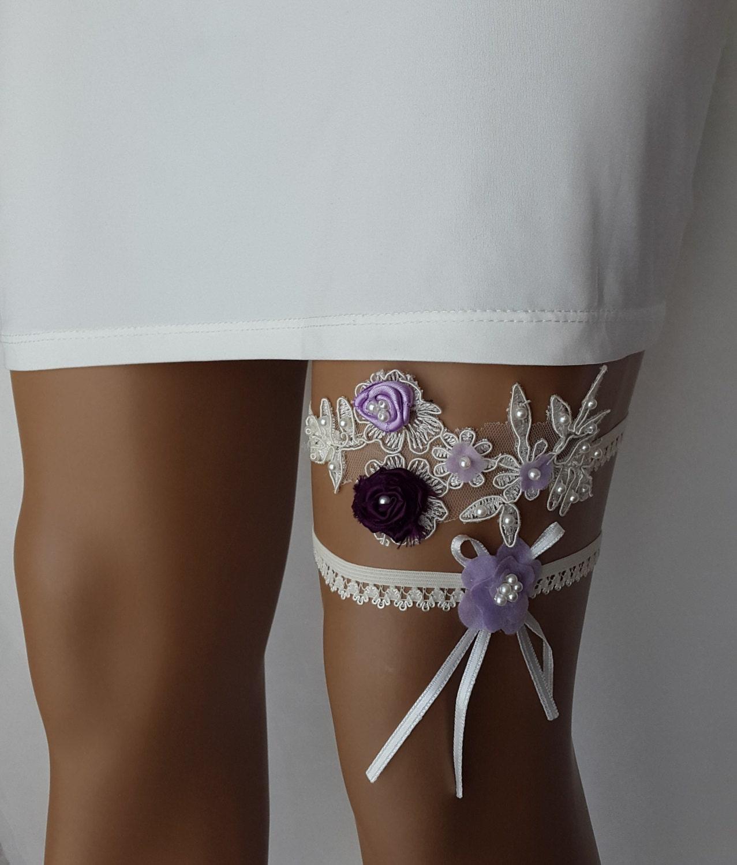 Wedding Toss Garter: Garter Toss Gartersblue Cream Lace Wedding By ByDreamShop