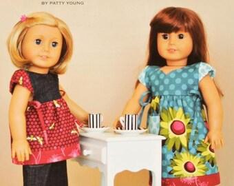 "ModKid - Mini Frida - Paper Sewing Pattern for 18"" Dolls - dress and tunic"