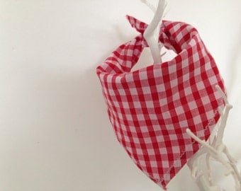 Red Gingham Dog Bandanas
