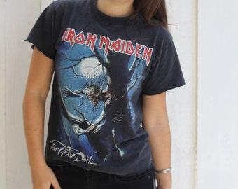 holeheartedla vintage Iron Maiden tee