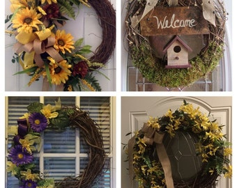 Decorative Grapevine Wreaths