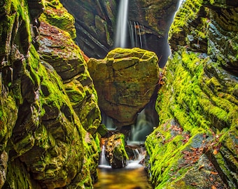 Duggers Creek / North Carolina + Waterfall + Nature + Landscape + Greenery + Mountains + Outdoor + Color Photography / Fine Art Print