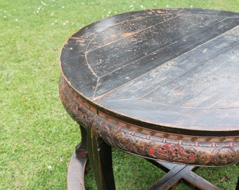 Vintage Chinese Demi-Lune table,