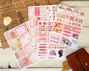 horizontal weekly kit, Planner stickers, weekly sticker, perfect for eclp horizontal, decorative sticker, filofax, kikki k weekly kit Aurora