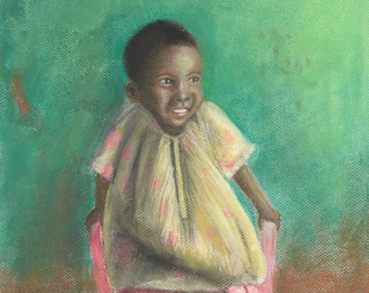 The Girl in the Pink Chair - Fine Art Print