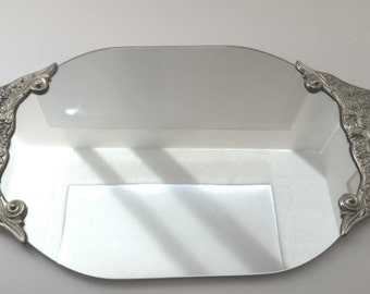 International Silver Co. Plated Vanity Mirror Tray