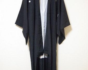 Kimono, Japanese Kimono, silk Kimono,black kimono