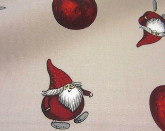 cotton fabric canvas apples gnomes Julapple Arvidssons