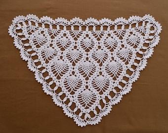 FREE SHIPPING - white crochet thread pineapple chair set, pineapple, chair set, crochet thread