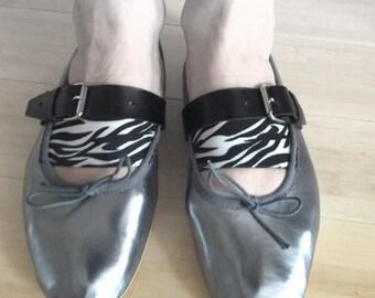 Silver Ballet Flat size 5