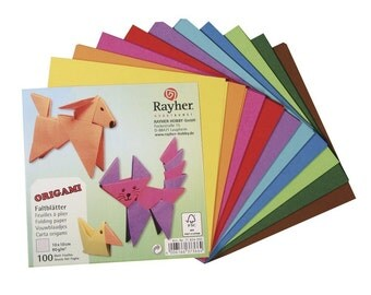 Rayher, Origami-folding doors, 10 x 10 cm, FSC Credit Mix, 80 G/m2, 100 sheets