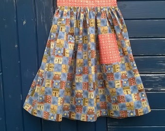 Little Hen House Skirt...... A quirky modern twist on a vintage style classic