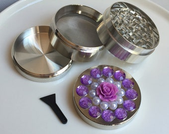 Purple Rose Herb Grinder