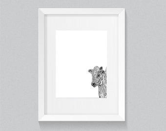 Calf Cow Print A4