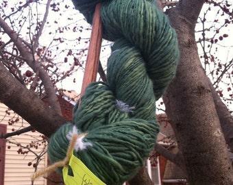 Handspun Wool Top single ply - 110 g. Hank