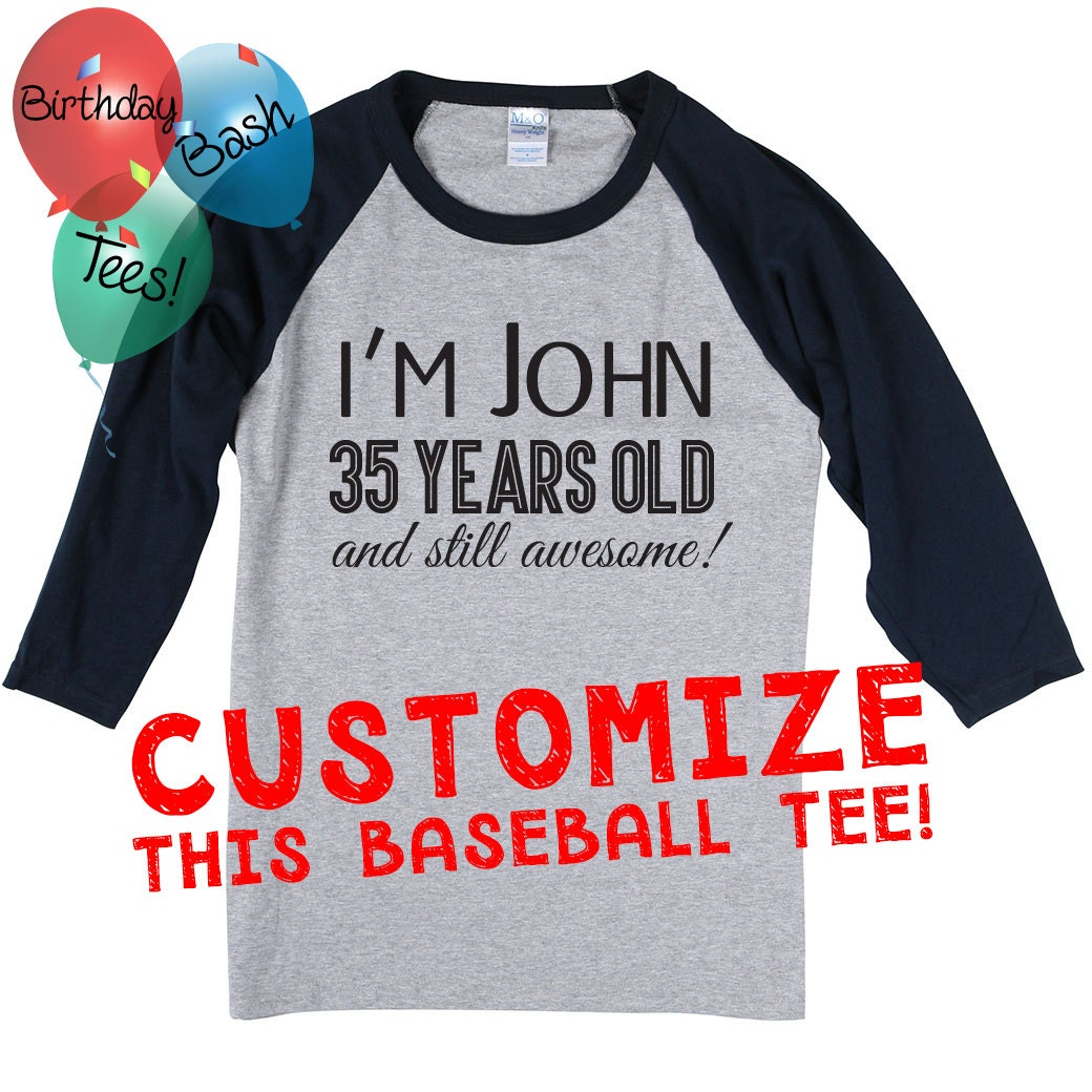 Custom Baseball Tee Raglan, Unique Gift Ideas, Customize your own ...