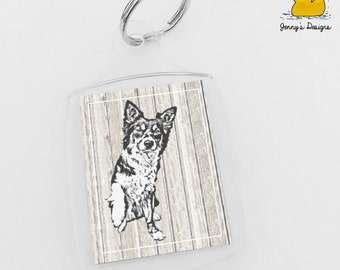 Border Collie Keyring, Border Collie, Keyrings, Keyring Gift, Dog Lover, Pet Lover, Dog Keyrings, Collie Keyring, Puppy Keyrings, Dog