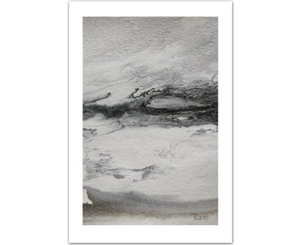 Original Watercolor Painting, Abstract Landscape Painting Watercolor painting, Art Painting, Watercolor Art, Birthday Gift, Gray Painting