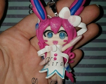 Humanized Sylveon (pokemon, eeveelution) necklace
