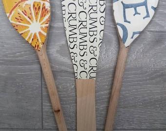 Decorative Spoons and Spatula Set in Emma Bridgewater Design