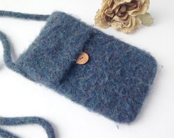 Felted Wool Purse / Felted Wool Bag / Boho Bag / Boho Purse / Felted Wool Messanger Bag / Felted Boho Purse / Wool purse