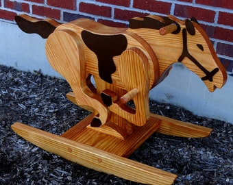 Personalized Wooden Rocking Horse / Handmade Rocking Horse / Children's Rocking Horse / Horse Gift