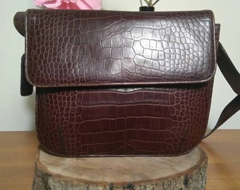 1960's real leather crocodile skin bag.