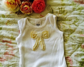 Sequined Bow Bodysuit