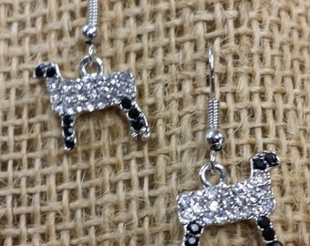 Show sheep earrings black face and legs