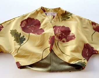 "1S&1M Silk ""Poppy"" Bolero Jacket"