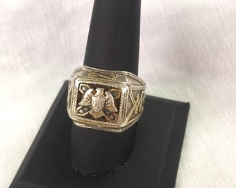 Franklin Mint Ring, Vintage Franklin Mint Eagle Ring, Celtic Ring, Eagle Ring, size 9.75