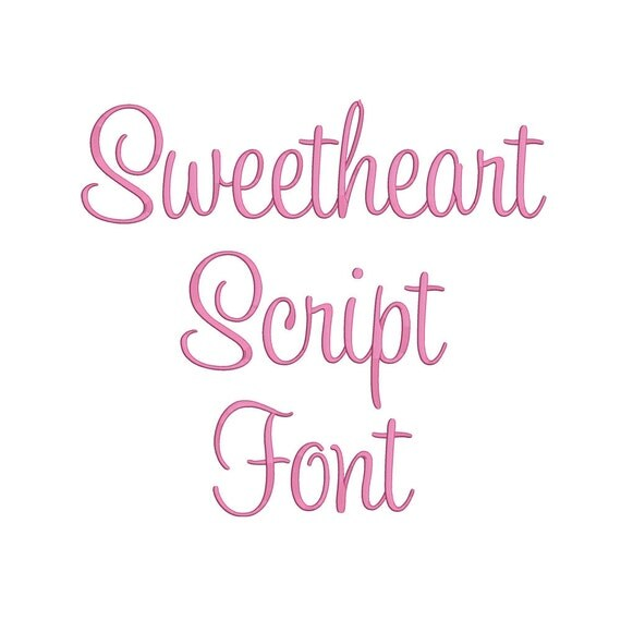 sweet heart embroidery fonts 3 size embroidery by again2again