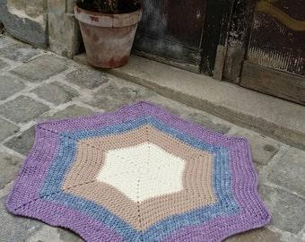 Hexagon crochet rug