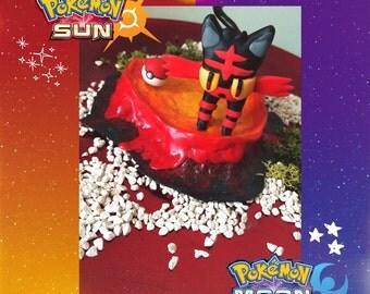 Pokemon Sun/Moon collectible alola fire starter- Litten || figure
