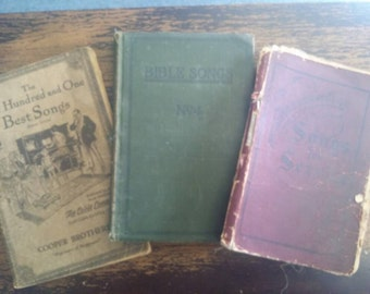 Early 1900s Hymn & Song Book Lot