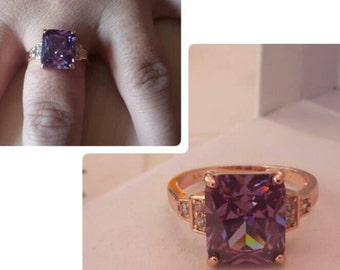 Ring creator pl gold crimped Amethyst. T59. New