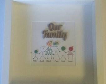 Box frame matchstick button families