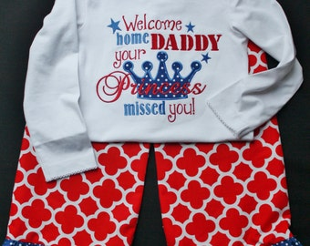 military homecoming shirt- deployment return shirt- welcome home TDY- patriotic shirt- military dad homecoming- military welcome home shirt