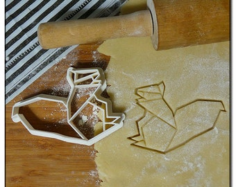 Cookie Cutter 3D Squirrel origami