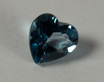 Natural London Blue Topaz, Heart Shape Faceted, 0.48ct