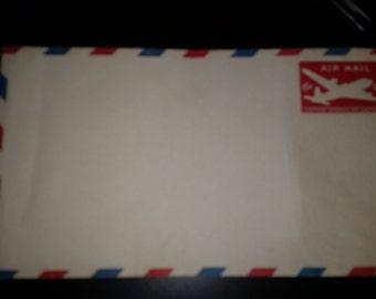 Vintage Pre Stamped Air Mail 6 Cent Envelopes