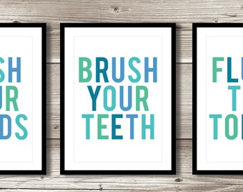 Bathroom Wall Art; washroom prints; customizable; digital print; choose your own colours!