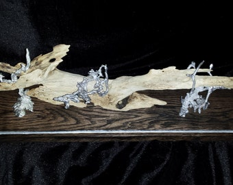 Driftwood with Pewter Ant Hill Art